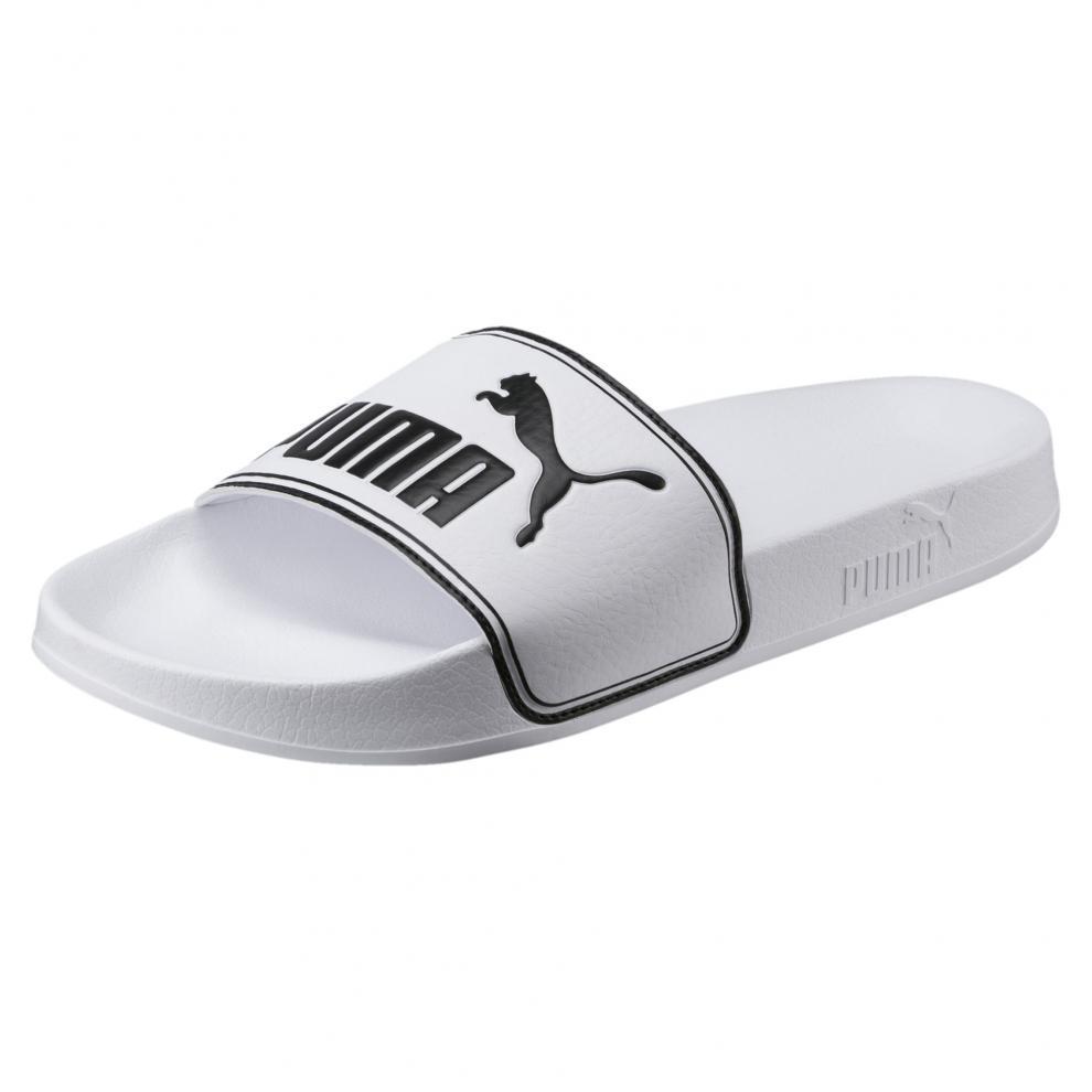 Puma Leadcat Slide Sandals Mens White